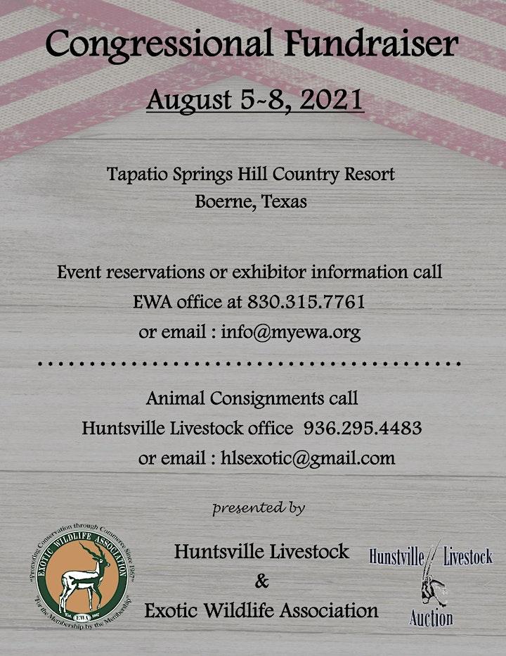 Congressional Fundraiser   Exotic Wildlife Association image