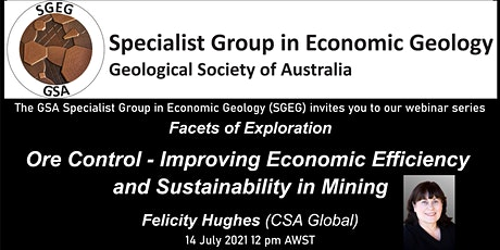 GSA Specialist Group in Economic Geology Facets of Exploration July Webinar tickets