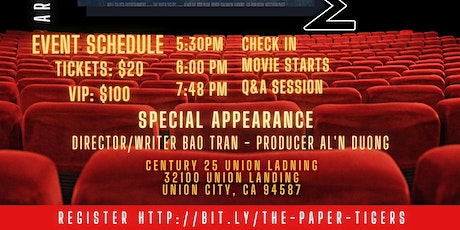 """Mingle With the STARS of """"the PAPER TIGERS"""" Movie Night tickets"""