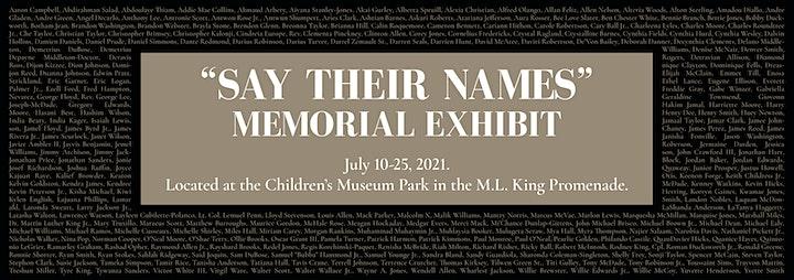 Say Their Names Memorial image