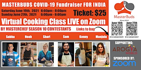MasterBuds COVID-19 Fundraiser for INDIA (JUNE 19th) tickets