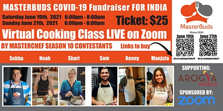 MasterBuds COVID-19 Fundraiser for INDIA (JUNE 27th) tickets