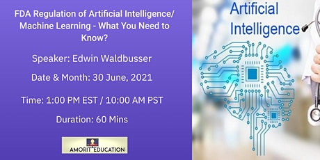 FDA Regulation of Artificial Intelligence/ Machine Learning boletos