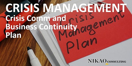 Crisis Management, Communication and Business Continuity Plan tickets
