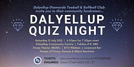 2021 Dalyellup Diamonds Quiz Night tickets