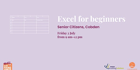 Excel for Beginners tickets