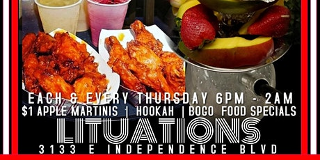 $1 Martinis BoGo Food Hookah@LitAfter5 tickets
