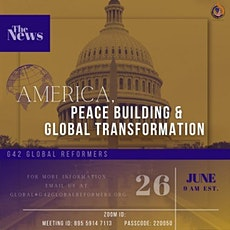 America, Peace Building and Global Transformation tickets
