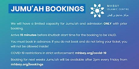 Jumu'ah Friday 18th June 2021 tickets