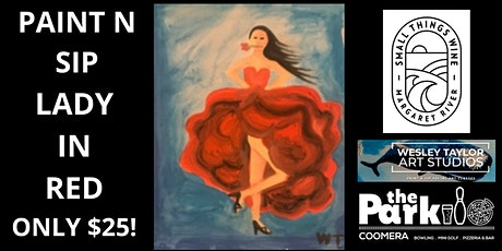 Paint and Sip Lady in Red tickets