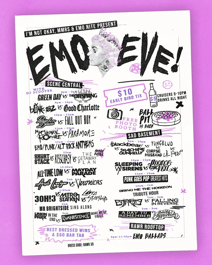 EMO EVE AT DELUXE - PUBLIC HOLIDAY EVE image