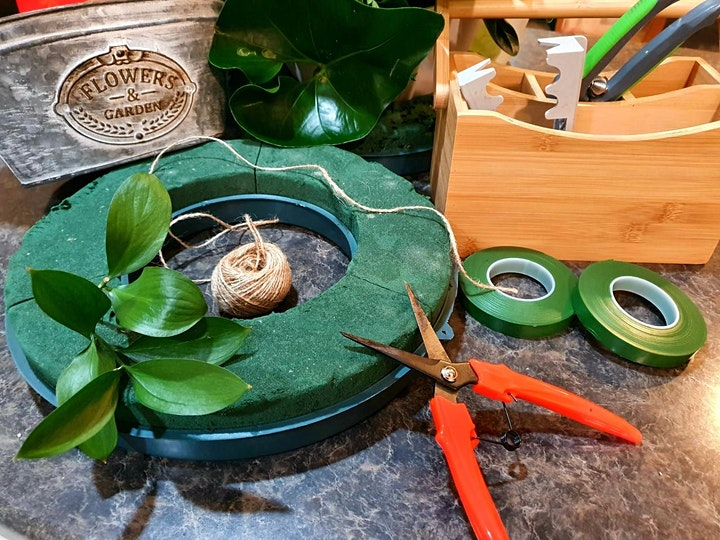 Mid Winter Christmas Flower Wreath Arrangement  Workshop & Morning Tea image