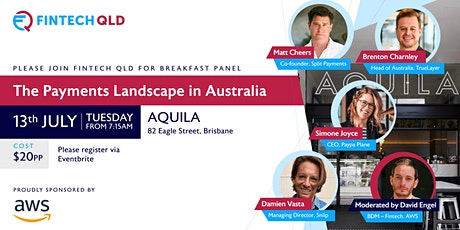 FinTech QLD Breakfast - The Payments Landscape in Australia tickets