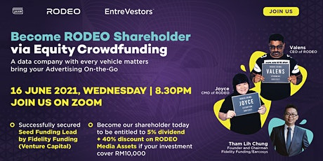 Become RODEO Shareholder via Equity Crowdfunding Sharing Talk tickets