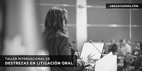 Taller Internacional de Destrezas en Litigación Oral entradas