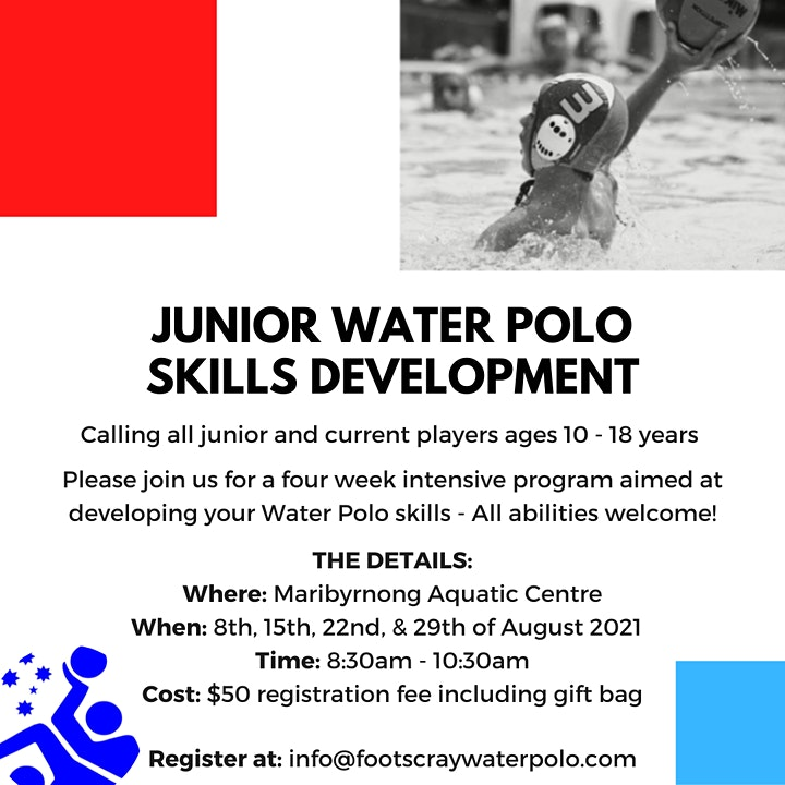 Footscray Water Polo Junior Skills Development Program (8, 15, 22, 29 Aug) image