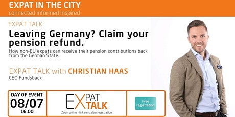 Expat Talk: Leaving Germany? Claim your pension refund. Tickets
