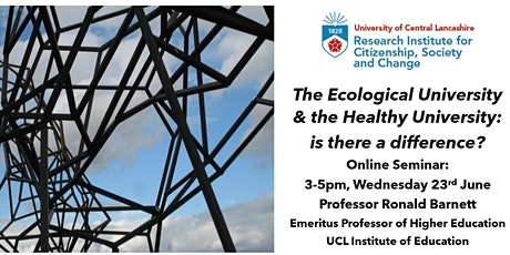 The Ecological University & the Healthy University: is there a difference? tickets