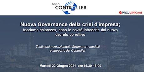 Nuova Governance della crisi d'impresa; le novità biglietti