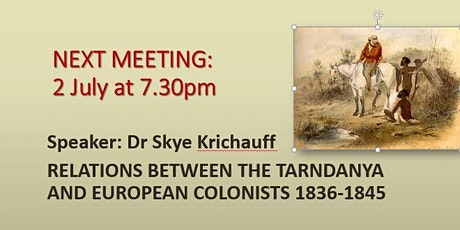 RELATIONS WITH TARNDANYA AND EUROPEAN SETTLERS 1836-1845 tickets