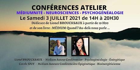 Conférences Atelier Médiumnité en live billets
