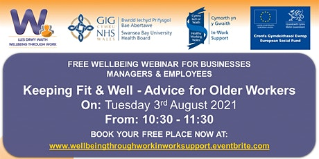 Keeping Fit & Well - Advice for Older Workers tickets