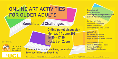 Benefits and Challenges of Online Art Activities for Older Adults tickets