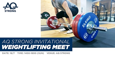 AQ Strong Invitational Weightlifting Meet tickets