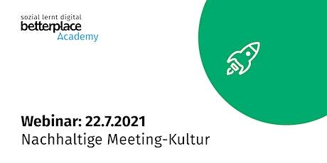Webinar: Nachhaltige Meeting-Kultur Tickets