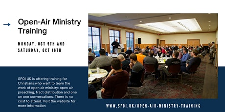 Open Air Ministry Training tickets