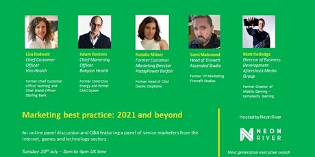 Marketing best practice: 2021 and beyond tickets
