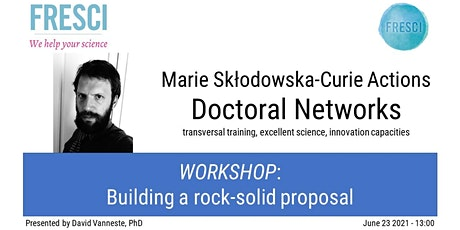 MSCA Doctoral Networks: Building a rock-solid proposal. tickets