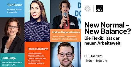 New Normal - New Balance? Die Flexibilität der neuen Arbeitswelt | GDWxAXA Tickets