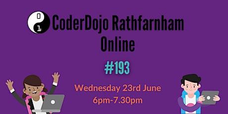 CoderDojo Rathfarnham Online - #193 tickets