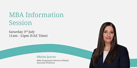 Virtual, MBA Information Session - Edinburgh Business School tickets