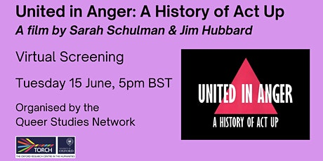 Screening of Schulman and Jim Hubbard's 2012 documentary 'United in Anger' tickets
