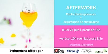 Afterwork - Pitchs d'entrepreneurs et dégustation de champagne billets