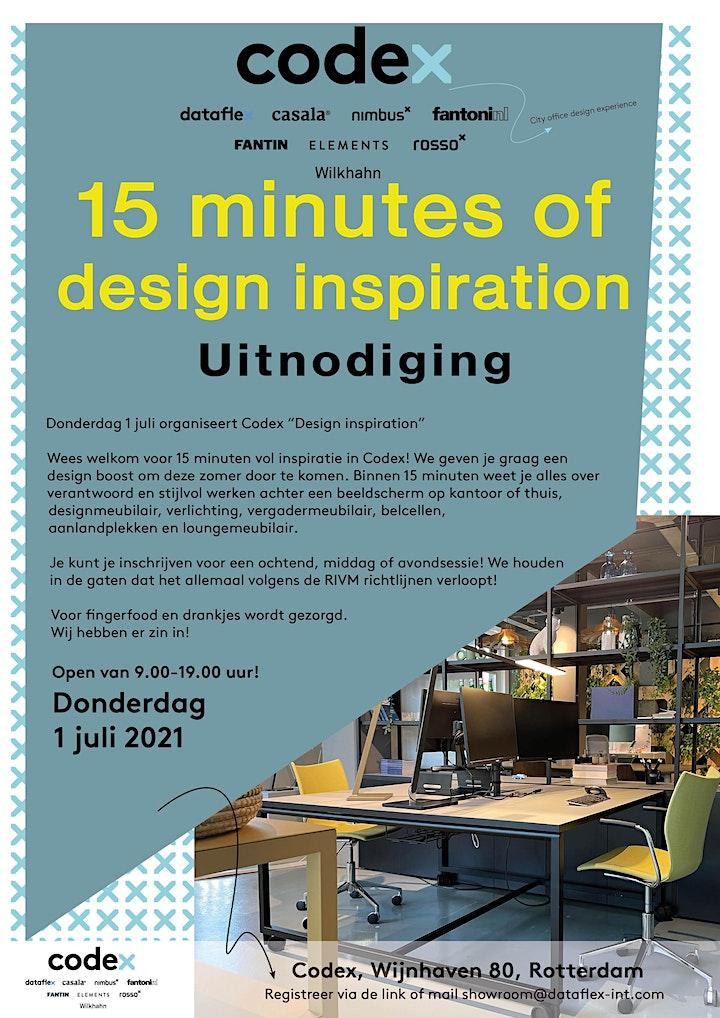 Afbeelding van 15 minutes of design inspiration