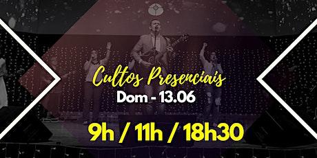 13 DE JUNHO - DOMINGO ingressos