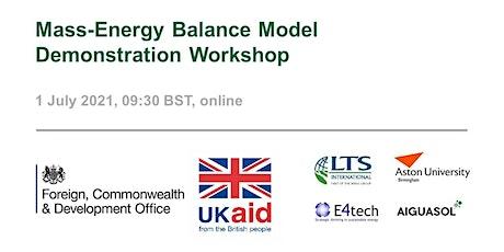 Mass-Energy Balance Model Demonstration Workshop tickets