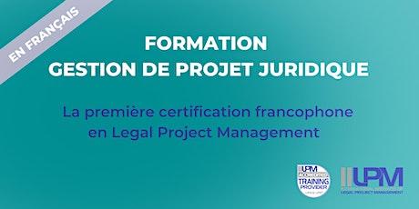 Certificat en gestion de projet juridique / Legal Project Management billets