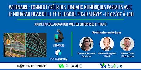 Optimisez vos jumeaux numériques avec le Lidar DJI L1 & Pix4D Survey billets