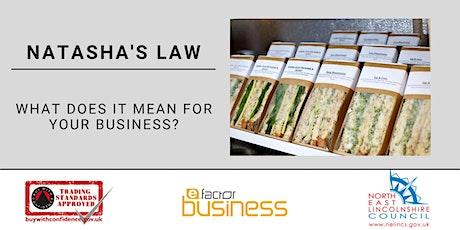 Trading Standards & E-Factor Business 'Natasha's Law'  Webinar tickets