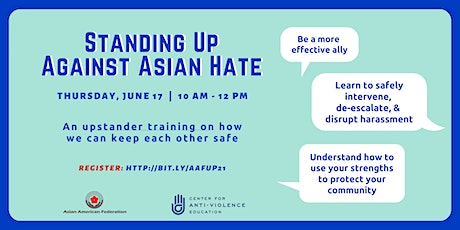 Upstander Training: Standing Up Against Asian Hate tickets