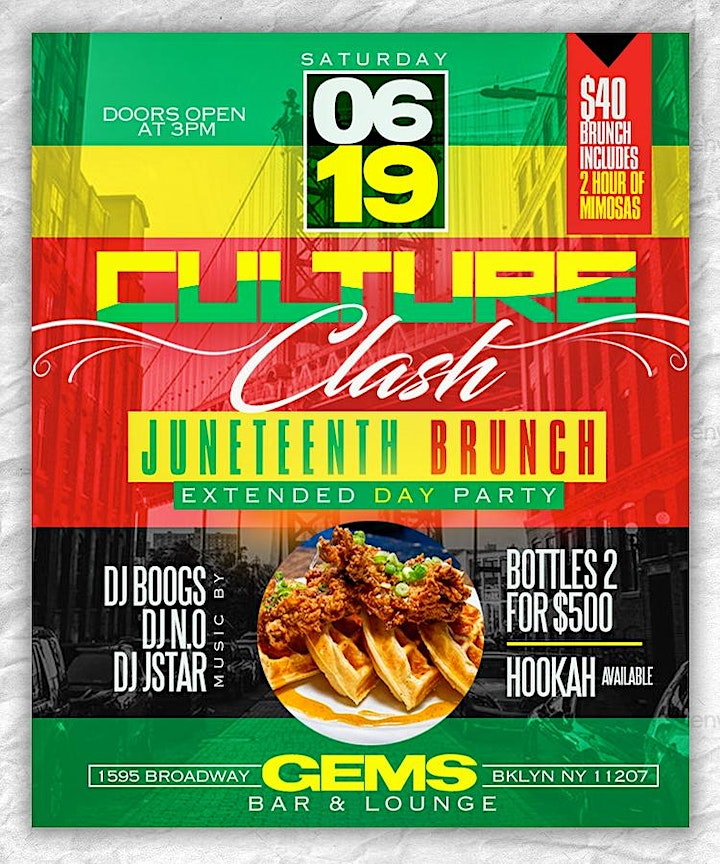 CULTURE CLASH BRUNCH & DAY PARTY JUNETEENTH  (FREE W/RSVP) AFRO VS TRAP image
