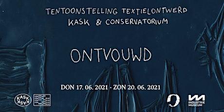 """Opening tentoonstelling """"ONTVOUWD"""" 3BA textielontwerp Kask billets"""