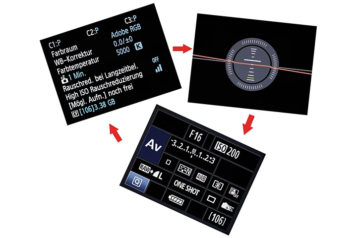 Die EOS Aufnahmeparameter unter Kontrolle: Bild