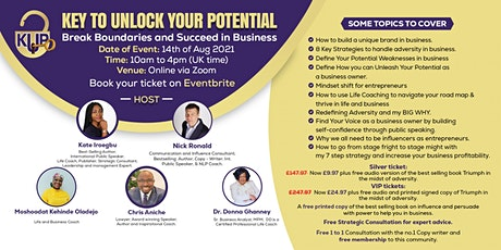Key to Unlock Your Potential - Break the boundaries to succeed in business tickets