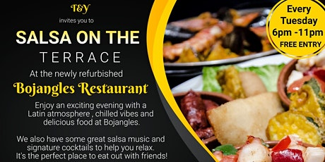 Salsa on the Terrace–A Refined Dining Experience at Bojangles in Chingford tickets