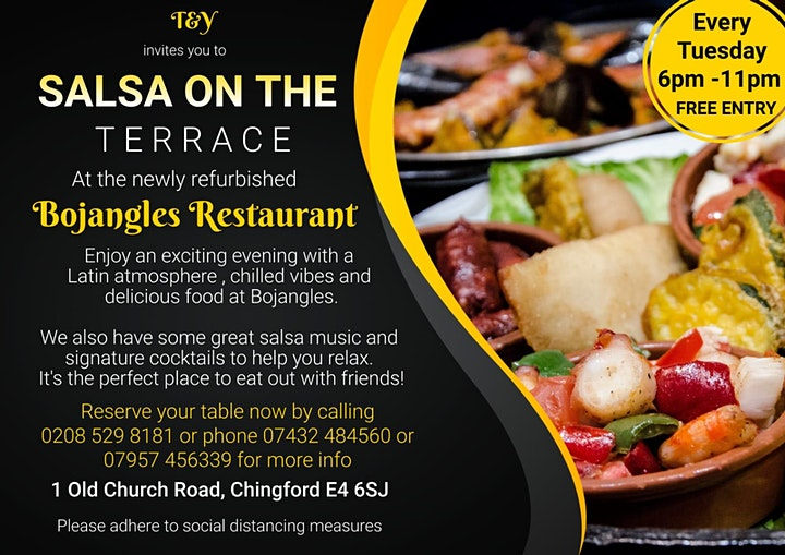 Salsa on the Terrace–A Refined Dining Experience at Bojangles in Chingford image